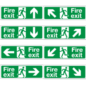 Fire Exit Signs 400mm x 150mm Image