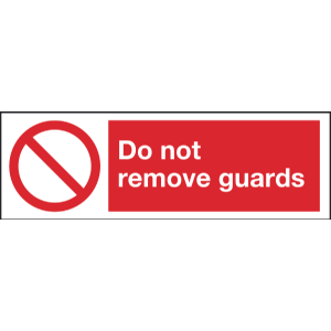 300mm x 100mm Do not remove guards Image