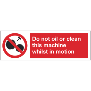 600mm x 200mm Do not oil or clean this machine Image