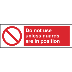 300mm x 100mm Do not use unless guards are in posi Image