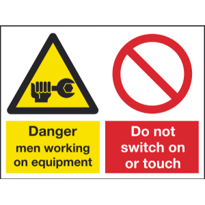 400mm x 300mm Danger men working / Do not operate Image