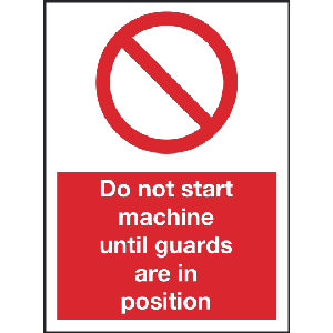 150mm x 200mm Do not start machine untill guards Image