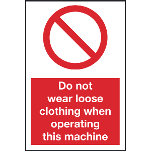 400mm x 600mm Do not wear loose clothing when oper Image