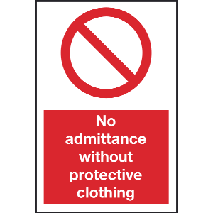 200mm x 300mm No admittance without protective clo Image