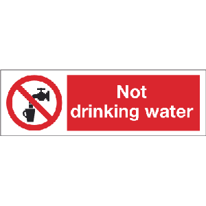 300mm x 100mm Not drinking water Image