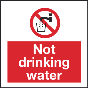 100mm x 100mm Not drinking water Image