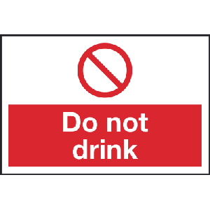 100mm x 150mm Do Not Drink Image