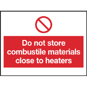 200mm x 150mm Do not store combustible material Image