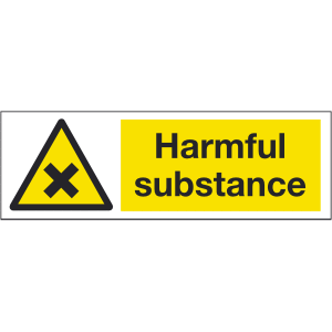 300mm x 100mm Harmful substance warning sign Image