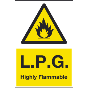 400mm x 600mm LPG Highly Flammable Sign Image