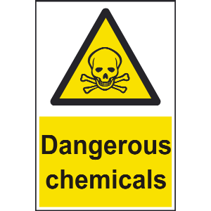 200mm x 300mm Dangerous chemicals Sign Image