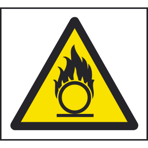 200mm x 200mm Warning oxidizing agent sign Image