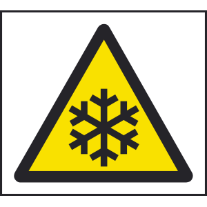 100mm x 100mm Warning cold temperature sign Image