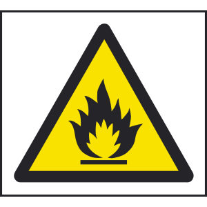 Warning flammable sign Image