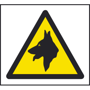 200mm x 200mm Warning dogs sign Image