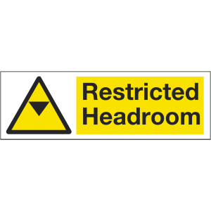 600mm x 200mm Warning Restricted Headroom. Image