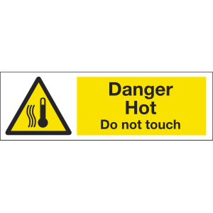 300mm x 100mm Danger Hot Do Not Touch Image