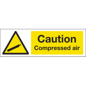 300mm x 100mm Caution Compressed Air Image
