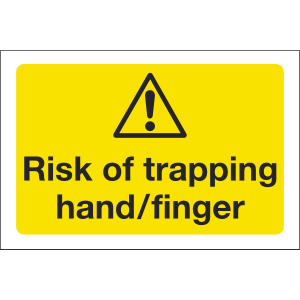 75mm x 50mm Risk of Trapping Image