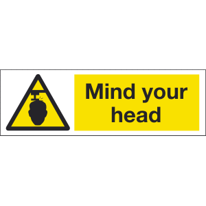 600mm x 200mm Mind Your Head Image