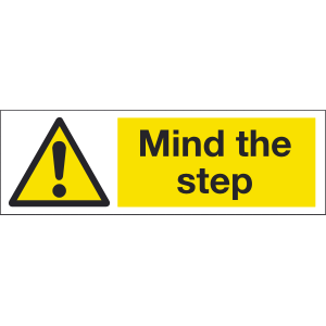 300mm x 100mm Mind The Step Image