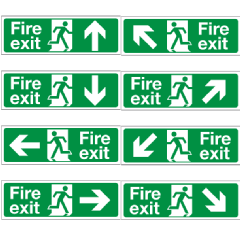 Fire Exit Signs 300mm x 100mm Image