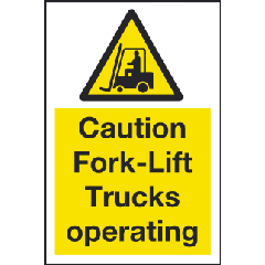 Forklift and Vehicle Warning Signs Image